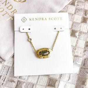 Anna Pendant Necklace   Vintage Gold Black Pyrite